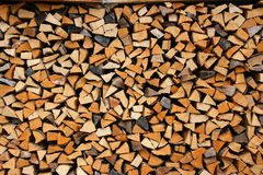 Chopped wood Stock Photo