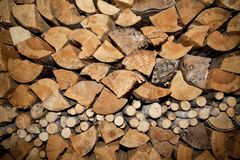 Chopped wood Royalty Free Stock Photos