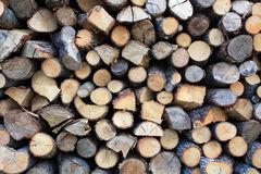 Chopped wood 2. Chopped wood ready for the fire Royalty Free Stock Images