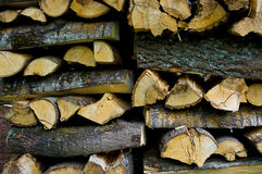 Chopped wood. Royalty Free Stock Photography