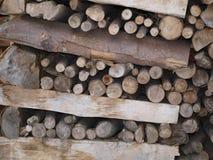 Chopped wood border. South Bohemia Royalty Free Stock Photo