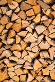 Chopped wood for fire Royalty Free Stock Images