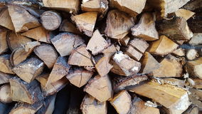 Chopped wood for fire on the winter Stock Images