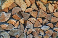 Chopped wood for home heating Stock Photo