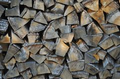 Wood logs background. Chopped wood logs useful as a background Royalty Free Stock Photo