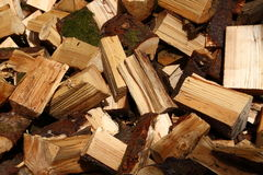 Chopped wood A Stock Photos