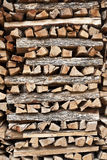 Chopped Wood Pile Stock Photo