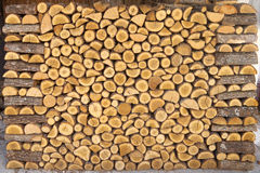 Chopped Wood Pile Royalty Free Stock Photography