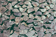 Chopped wood pile close-up Royalty Free Stock Image