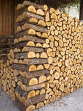Chopped wood Pile. Pile of chopped fire wood prepared for winter Royalty Free Stock Photo