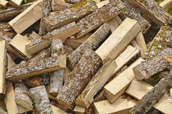 Chopped wood. Ready to be burned in the chimney Stock Photo