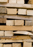 Chopped wood. Recovery of chopped wood piled Stock Photos