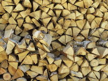 Chopped Wood. Stacked for drying Royalty Free Stock Photography