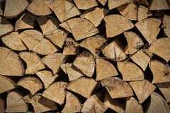 Chopped wood. Stacked on each other Stock Photo
