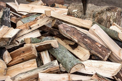 Chopped wood stacked Royalty Free Stock Photo