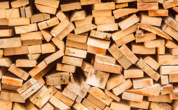 Chopped wood stacked in pile for winter Stock Photography