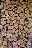 Chopped Wood Wall Royalty Free Stock Images
