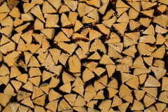 Chopped wood wall (fine) Royalty Free Stock Images
