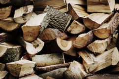Chopped wood Royalty Free Stock Images