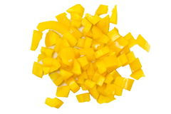 Chopped yellow Bell Pepper Royalty Free Stock Images