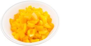 Chopped Yellow Bell Pepper II Stock Photos