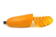 Chopped yellow squash Stock Photo