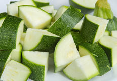 Chopped zucchini Stock Images