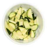 Chopped Zucchini in Bowl Stock Photos