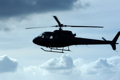 Chopper. Helecopter flying at low altitude Royalty Free Stock Images