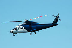 Chopper. A passenger helicopter on its flight for sightseeing Royalty Free Stock Photography