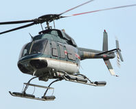 Chopper. During take off in manhattan new york stock photos