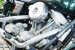 Chopper bike engine Stock Photos