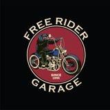Chopper bike garage badge Stock Photography