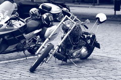 Chopper. Black and white Stock Photography