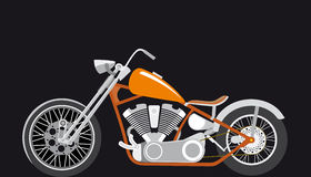 Chopper, bobber,. Race bike motor royalty free illustration