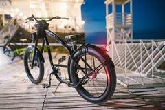 Chopper. Custom chopper bicycle on street Royalty Free Stock Image