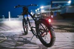 Chopper. Custom chopper bicycle on street Royalty Free Stock Photo