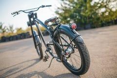 Chopper. Custom chopper bicycle on street Stock Photography