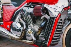 Chopper. Custom bike on bike show Royalty Free Stock Photography