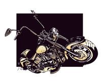 Chopper  customized motorcycle Stock Photography