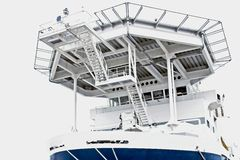 Chopper deck on ship Royalty Free Stock Photo