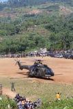 Chopper evacuation Royalty Free Stock Images