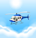 A chopper flying Stock Photography