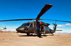 Chopper on the go. Helicopter ride transportation Royalty Free Stock Photos