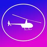 Chopper Helicopter Logo Banner Background bild vektor illustrationer