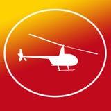 Chopper Helicopter Logo Banner Background bild royaltyfri illustrationer