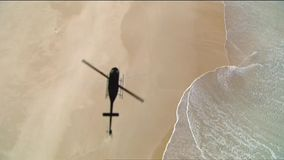 Chopper Helicopter Silhouette stock video footage
