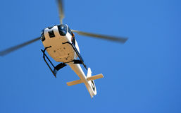Chopper Hovering Stock Images