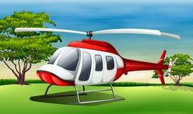 A chopper landing Stock Photography