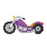 Chopper motorbike in pixel art style isolated vector illustration Royalty Free Stock Image